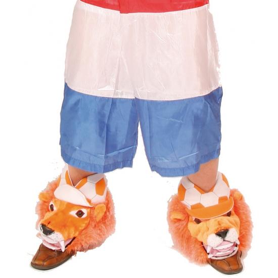 Oranje schoenhoezen leeuw