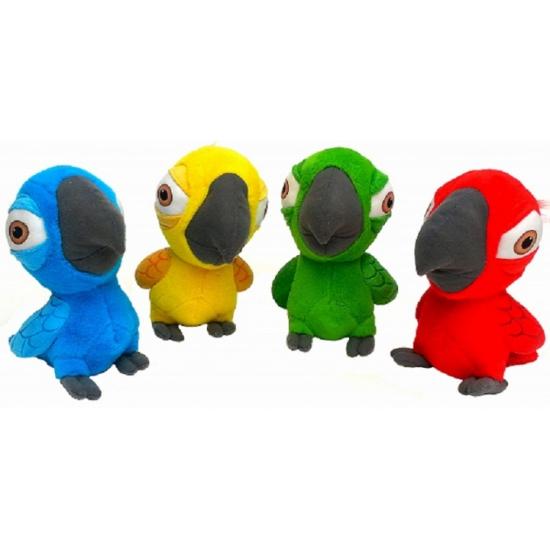 Pluche Rio papegaai rood 22 cm
