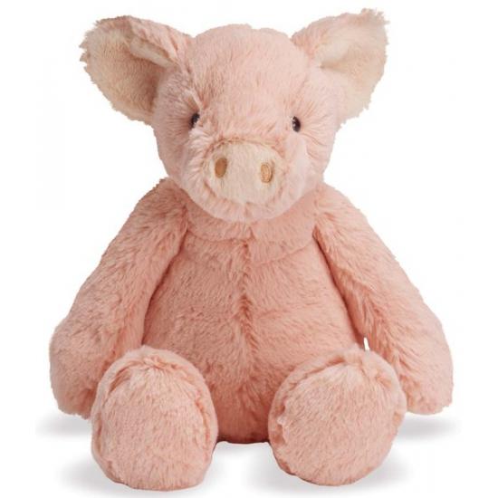 Pluche roze varken Piper 19 cm