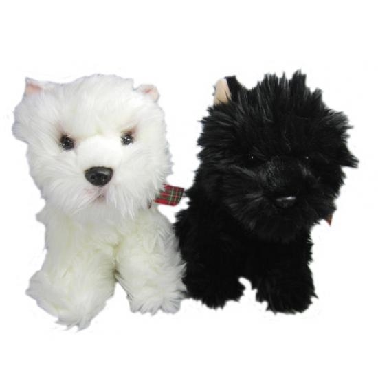 Pluche witte Terrier 25 cm