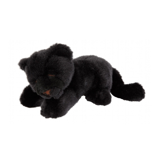 Pluche zwarte panter knuffel 20 cm