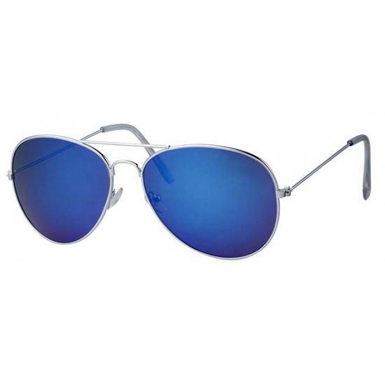 Politie brilletjes met blauwe glazen