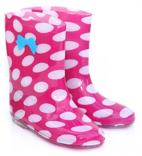 Polka dot regenlaarsjes voor kids