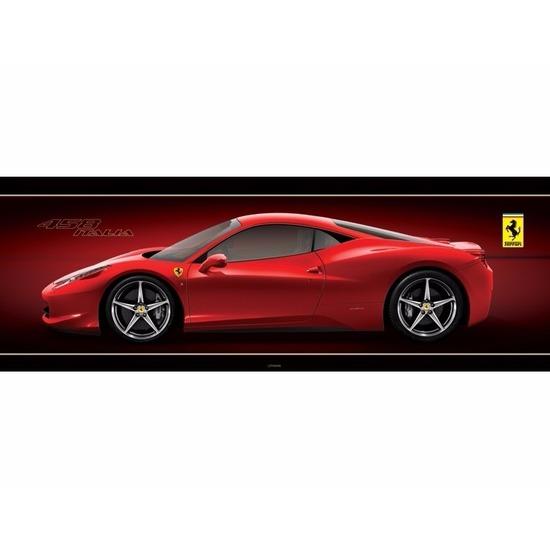 Poster Ferrari 458 Italia auto 158 x 53 cm