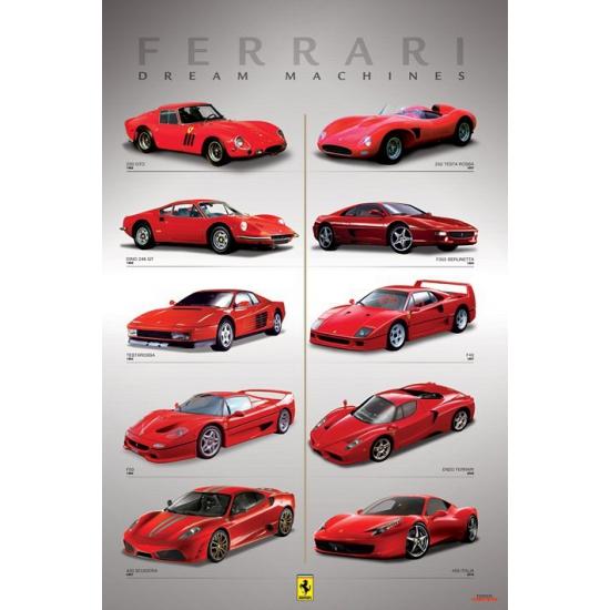 Poster Ferrari 61 x 91,5 cm