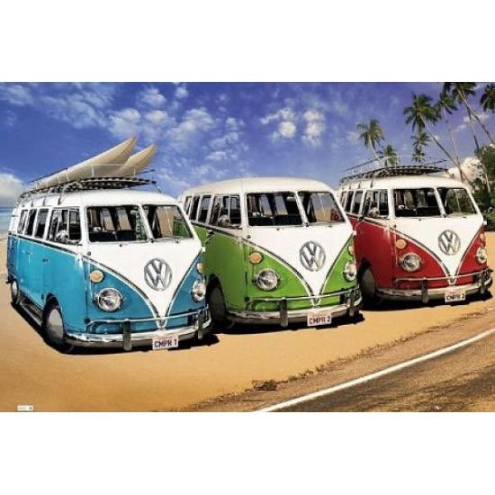 Poster Volkswagen Campers 61 x 91,5 cm