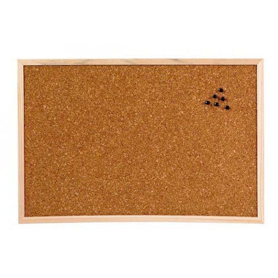 Prikbord van kurk 58 x 39 cm