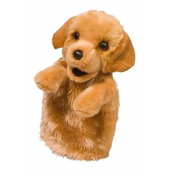 Puppy handpop knuffel hond 28 cm