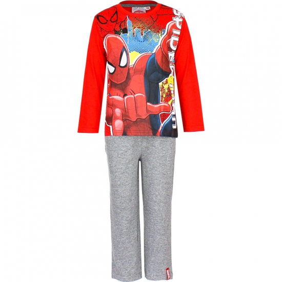 Pyjama Spiderman rood grijs