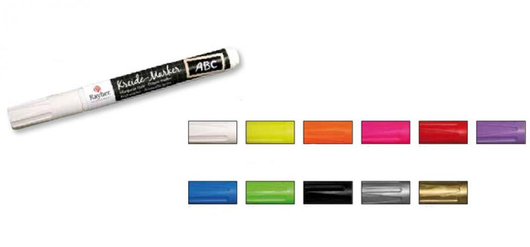 Raam markers gekleurd