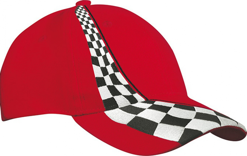 Race petjes in het rood