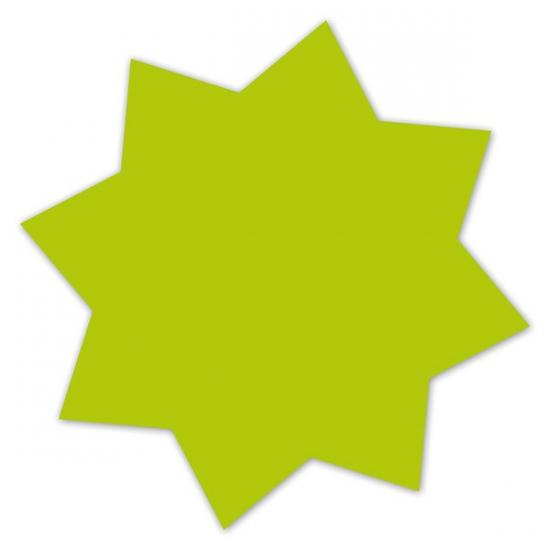 Reclame sterren neongroen 18 cm