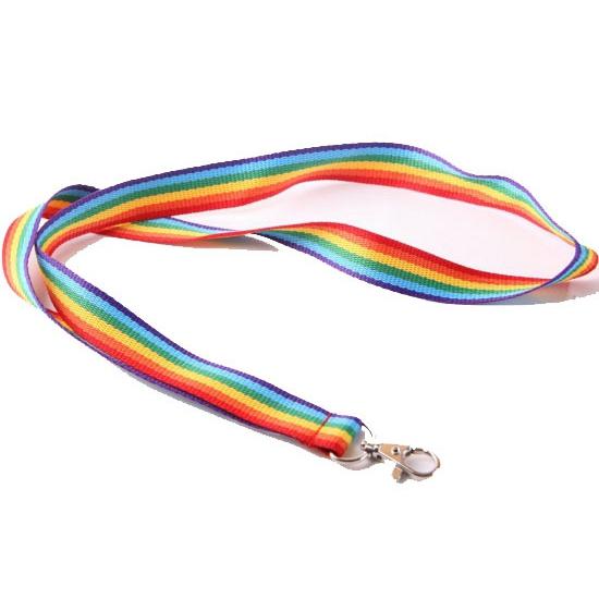 Regenboog sleutelkoord 90 cm