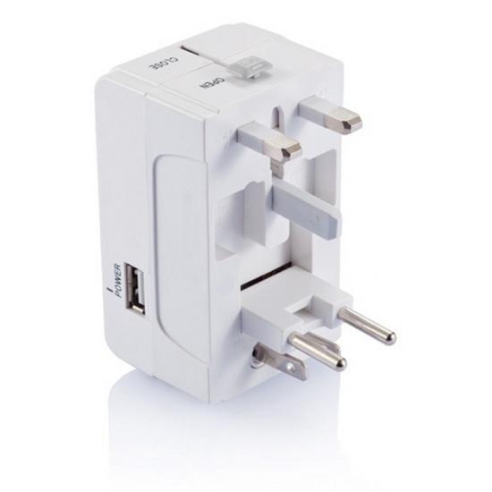 Reisstekker met USB