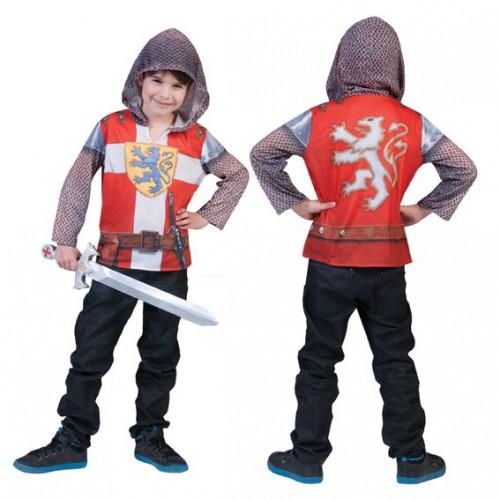 Ridder shirt met capuchon en 3D opdruk voor kids