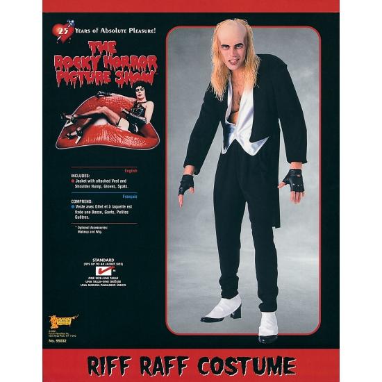 Rocky Horror show Riff Raff kostuum