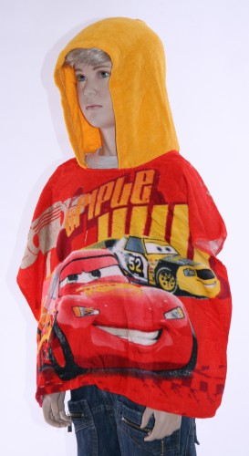 Rode Cars handdoek poncho