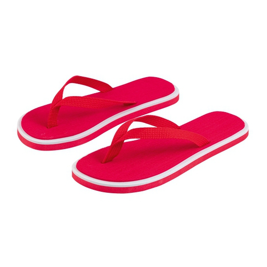 Rode flip flop slippers voor dames
