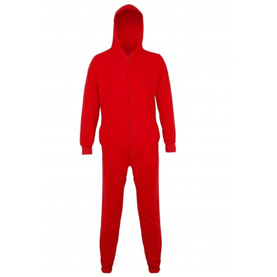Rode onesie jumpsuit voor dames