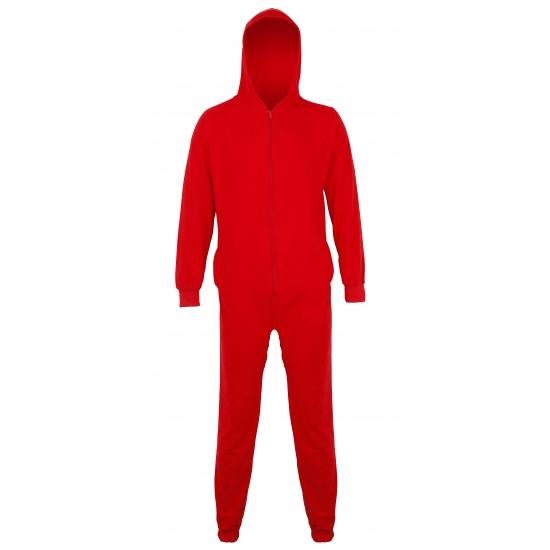 Rode onesie jumpsuit voor heren