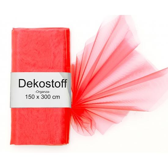 Rode organza stoffen 150 x 300 cm