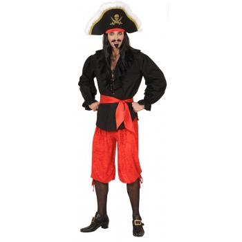 Rode piraten broek velours