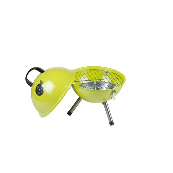 Ronde houtskool barbecue lime