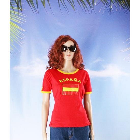 Rood dames shirt Spanje