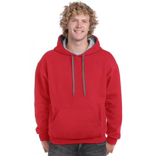 Rood met grijze trui voor heren