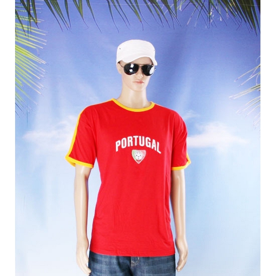 Geel rood shirt portugal