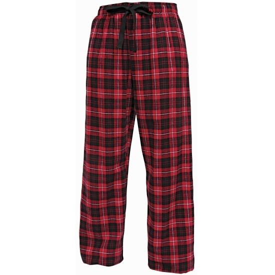 Rood/zwarte broek katoenflanel