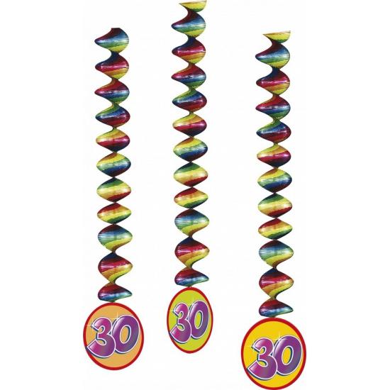 Versiering 30 jaar feest spiralen