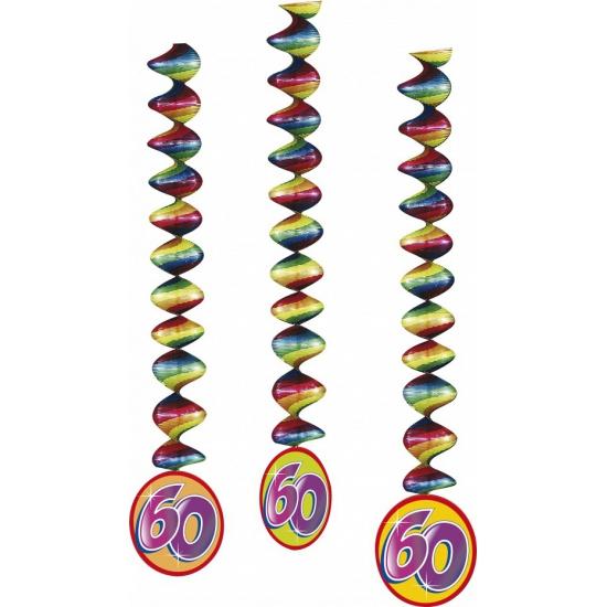 3x feestartikelen 60 jaar spiraal