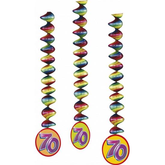 Gekleurde party spiralen 70 jaar