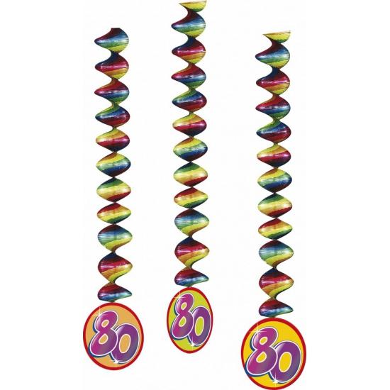Gekleurde rotorspiralen 80 jaar 3x