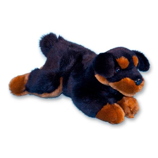 Rottweiler knuffel liggend 26 cm