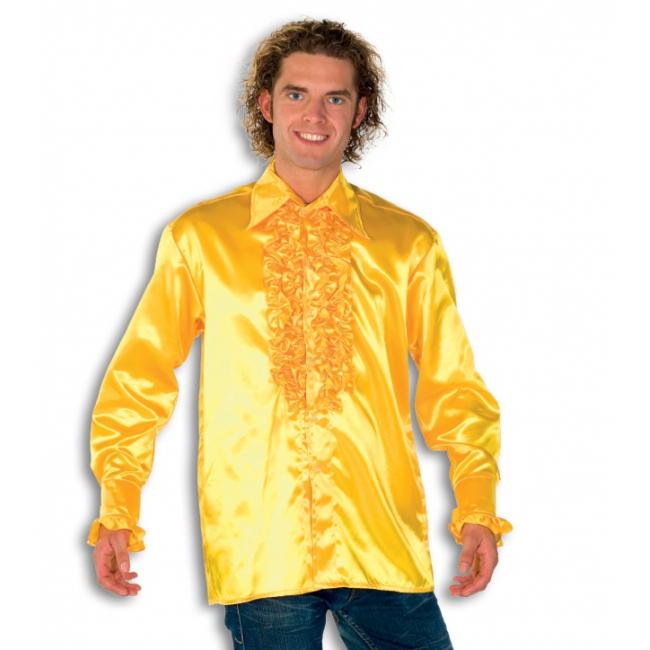 Gele heren rouche overhemd