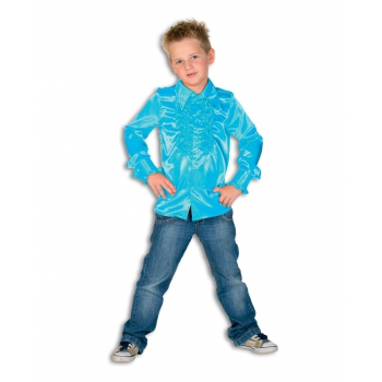Disco shirt blauw kinderen