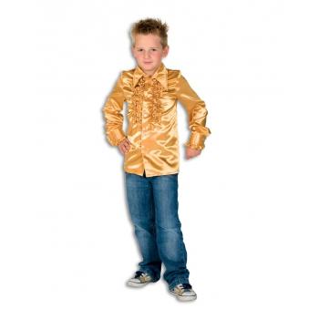 Disco shirt goud kinderen