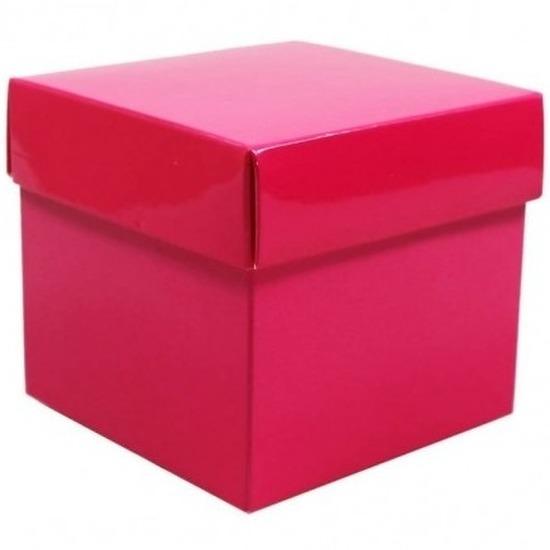 Roze decoratie kadootjes 10 cm