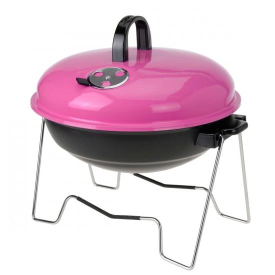 Roze kampeerbarbecue 36 cm