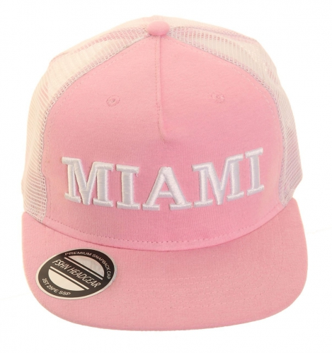 Roze Miami snapback pet