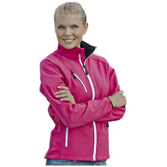 Roze softshell damesjack