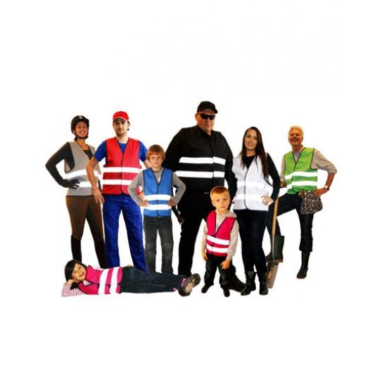 Roze team vest voor kinderen
