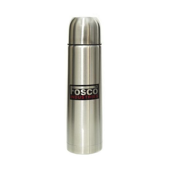 RVS thermosfles 1 liter zilver