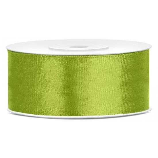 Satijn sierlint lime groen 25 mm