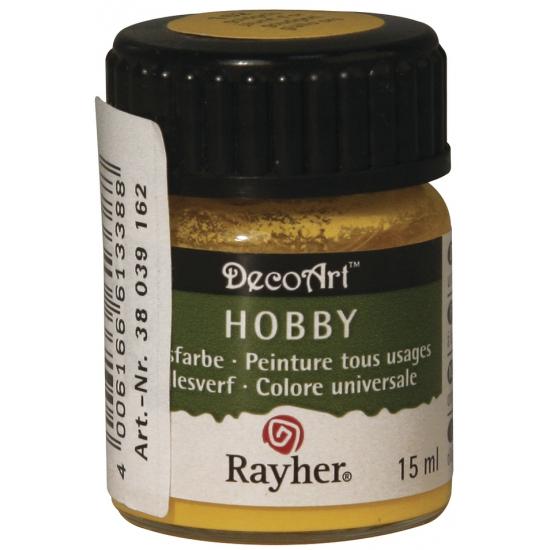 Schilder materiaal verf goudgeel 15 ml