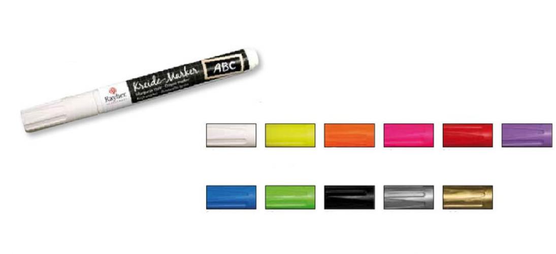 Schoolbord markers gekleurd