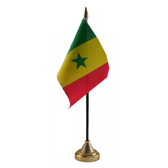 Senegal tafelvlaggetje inclusief standaard