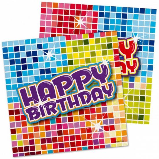Servetten Happy Birthday 16 stuks